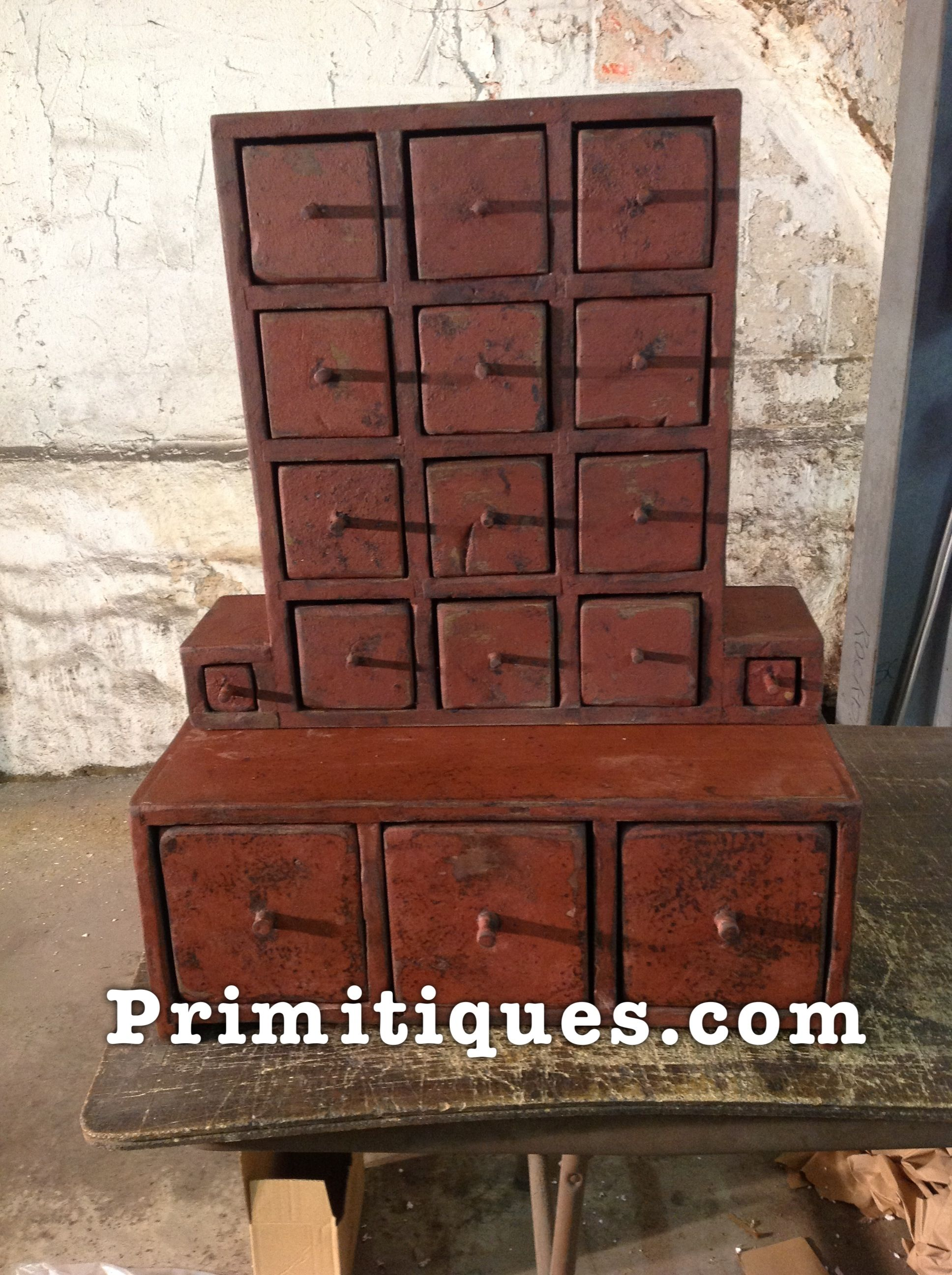 Primitive country furniture folk primitive decor painted - Rustic country bedroom decorating ideas ...