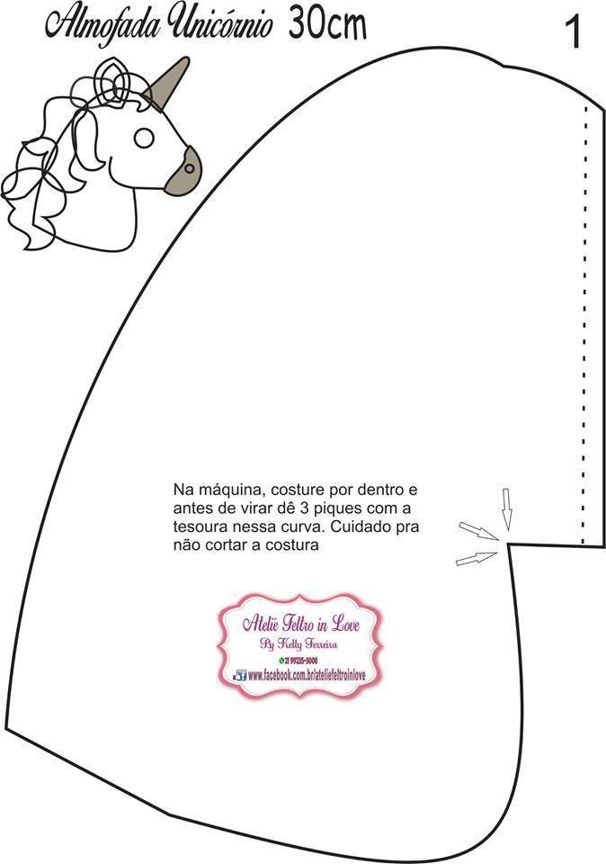 Moldes para hacer una almohada de unicornio. Related Post Como hacer ...