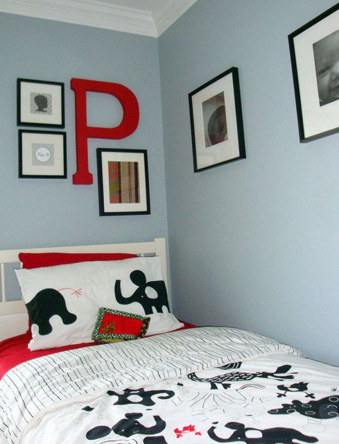 Gray And Red Bedroom Ideas black, white and grey boys' room would like to do a variation of
