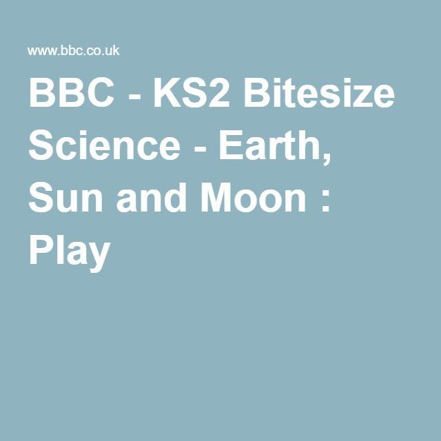 Bbc Ks2 Bitesize Science Earth Sun And Moon Play Education