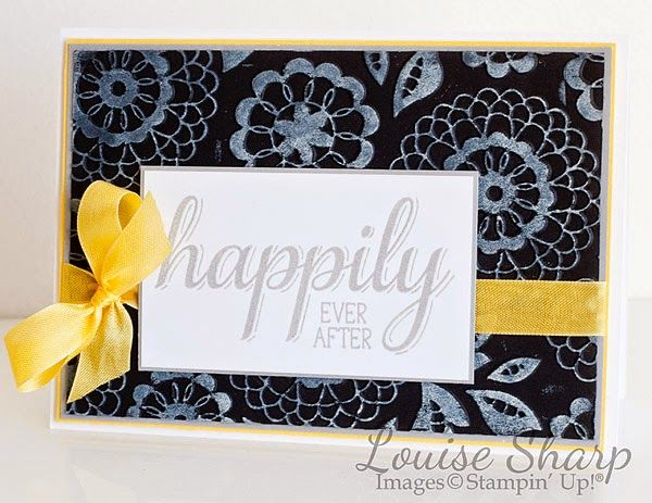 Stampin Up Big News stamp set and Lovely Lace embossing folder, using brayer technique. By Louise Sharp. Just Add Ink 225- Colour Combo