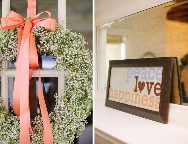 Baby's Breath Wedding Door Wreath