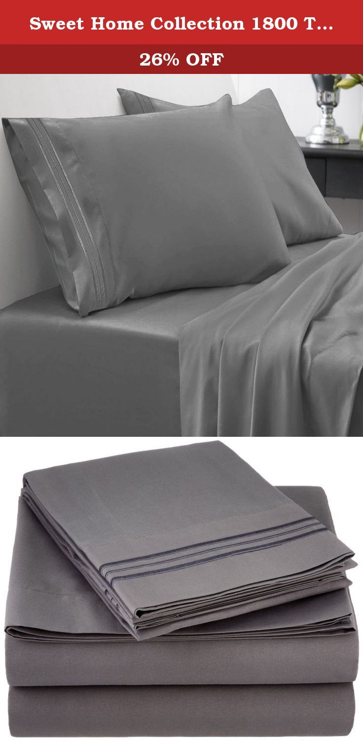 Sweet Home Collection 1800 Thread Count Egyptian Quality 4 Piece ...