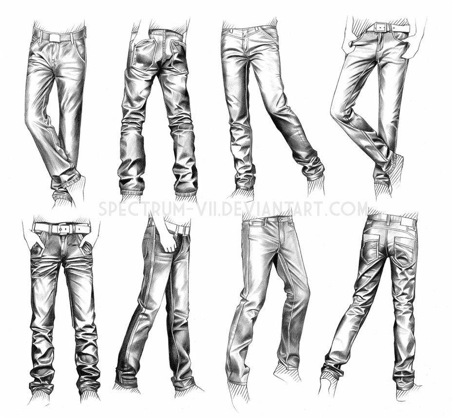 A Study In Jeans By Spectrum Vii On Deviantart Ropa Dibujo Como Dibujar Ropa Esbozos