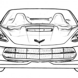 Corvet Stingray Pics To Coler Corvette Car Coloring Sheet