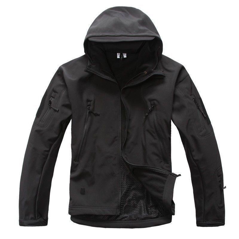Mens TAD Gear soft shell fleece waterproof jackets   Army