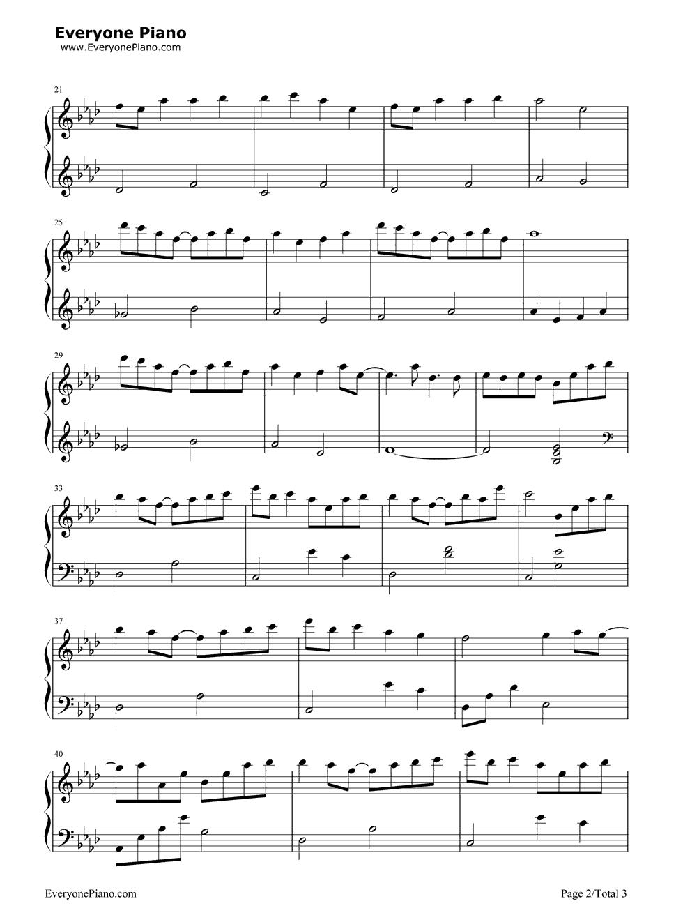 Dango Daikazoku Clannad Ed Stave Preview 2 Free Piano Sheet Music