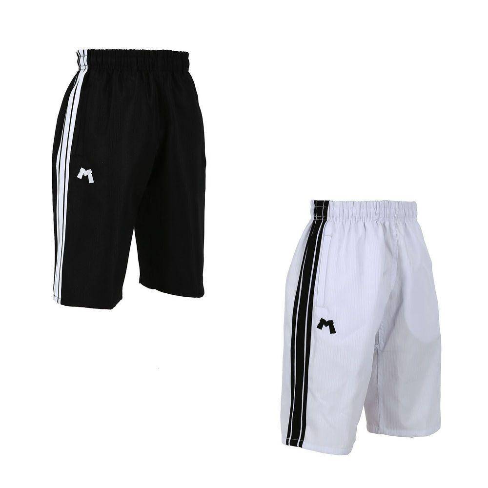 MMA Pants MUDOIN TKD Cool Spare Stripe Capri Shorts Pockets TaekwonDo 100 to 190