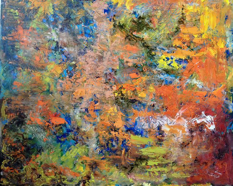 """Saatchi Online Artist: Roger Kirk Nelson; Paper, 2012, Mixed Media """"Garden of Earthly Delights"""""""