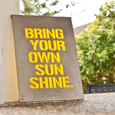 Bring your own sunshine - cut from industrial mild steel