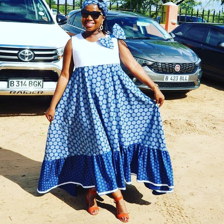 Cinderella Shweshwe Dress: 70 Likes, 1 Comments