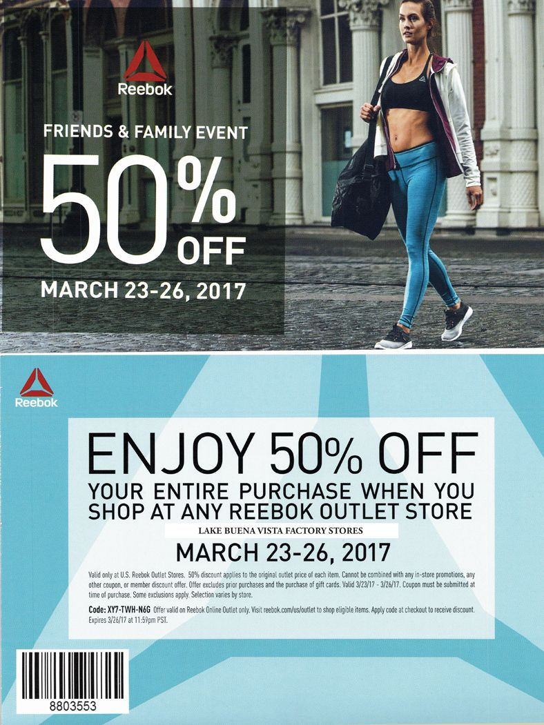 reebok outlet store locations