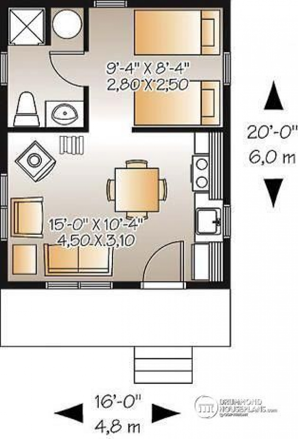 A Simple 16x20 Cabin With Awesome Must See Floor Plan Shedplans In 2020 Tiny House Layout Tiny House Floor Plans Cabin House Plans