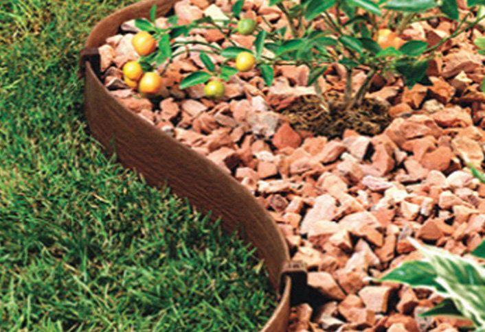 Installing Plastic Edging Garden Lawn Edging Lawn Edging Playground Landscaping