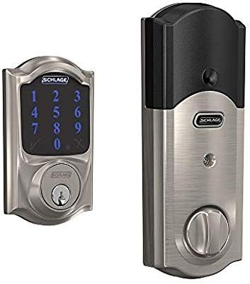 Schlage BE469ZP CAM 619 Connect Smart Deadbolt with Alarm