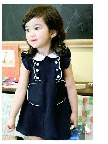 Mod 1960's style Retro Lauren.. black and white dress-children ...