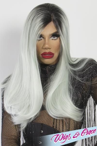 ac1b5391dcd62 ROOTED FROZEN MINT BETSY BETSY - Wigs and Grace , drag queen wig, drag  queen, lace front wig, high quality wig, rupauls drag race wig, rpdr wig,  kim chi wig