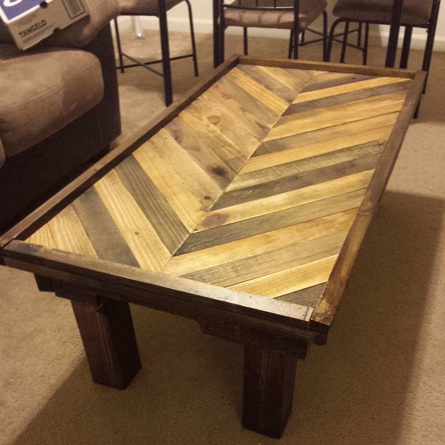 Pallet Coffee Table Boards Are 2 5 Inches The Is Ft By