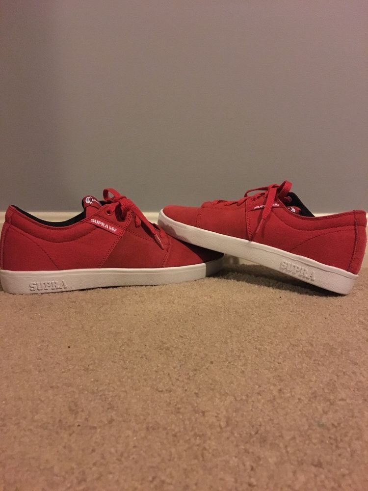 13a3475575cd Terry Kennedy Red Supra Low top skate shoes size 9.5  fashion  clothing   shoes