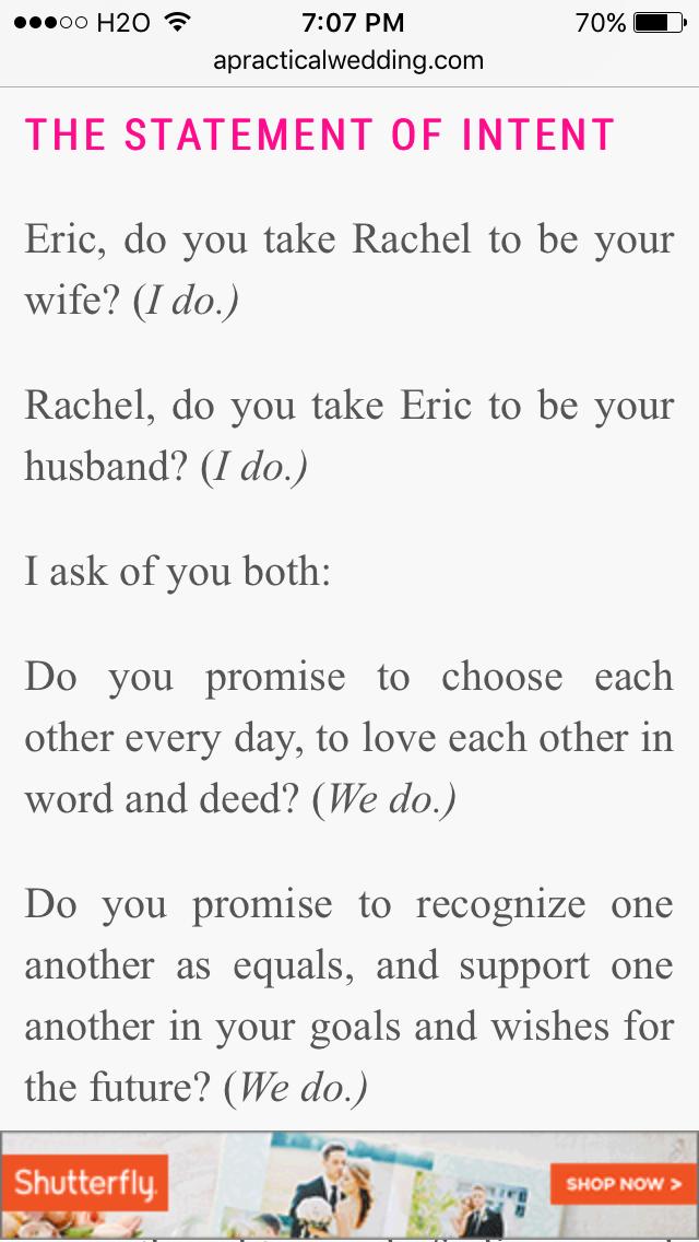 Beautiful Wedding Ceremony Script Examples Wedding