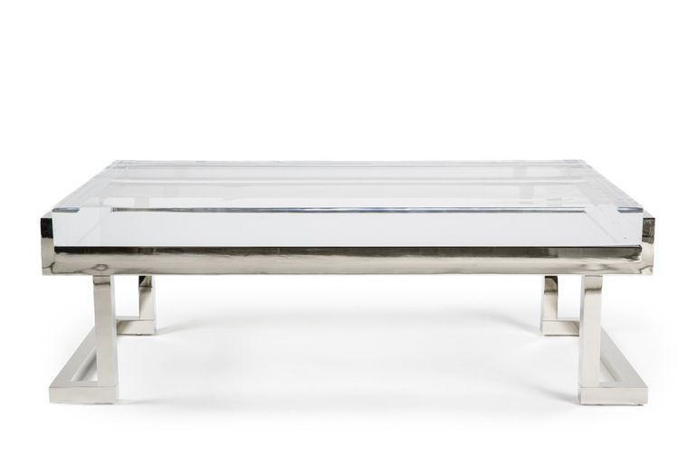Mies Coffee Table In Polished Nickel