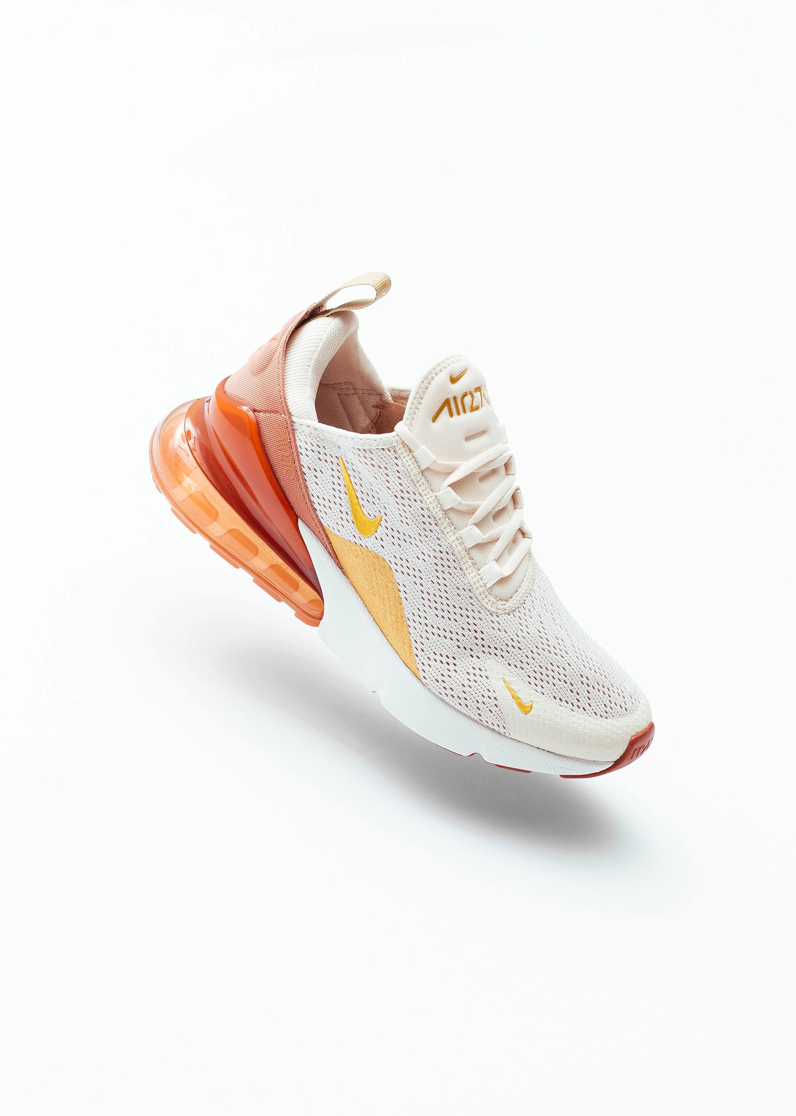 Nike Women's Air Max 270 Light Cream Metallic Gold Ah6789