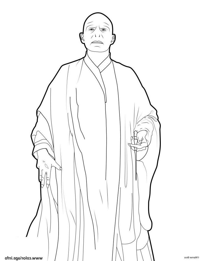 Coloriage Harry Potter Voldemort