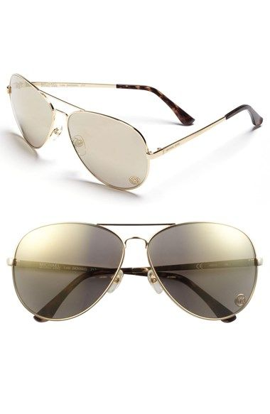 MICHAEL Michael Kors 'Lola' 63mm Aviator Sunglasses available at #Nordstrom