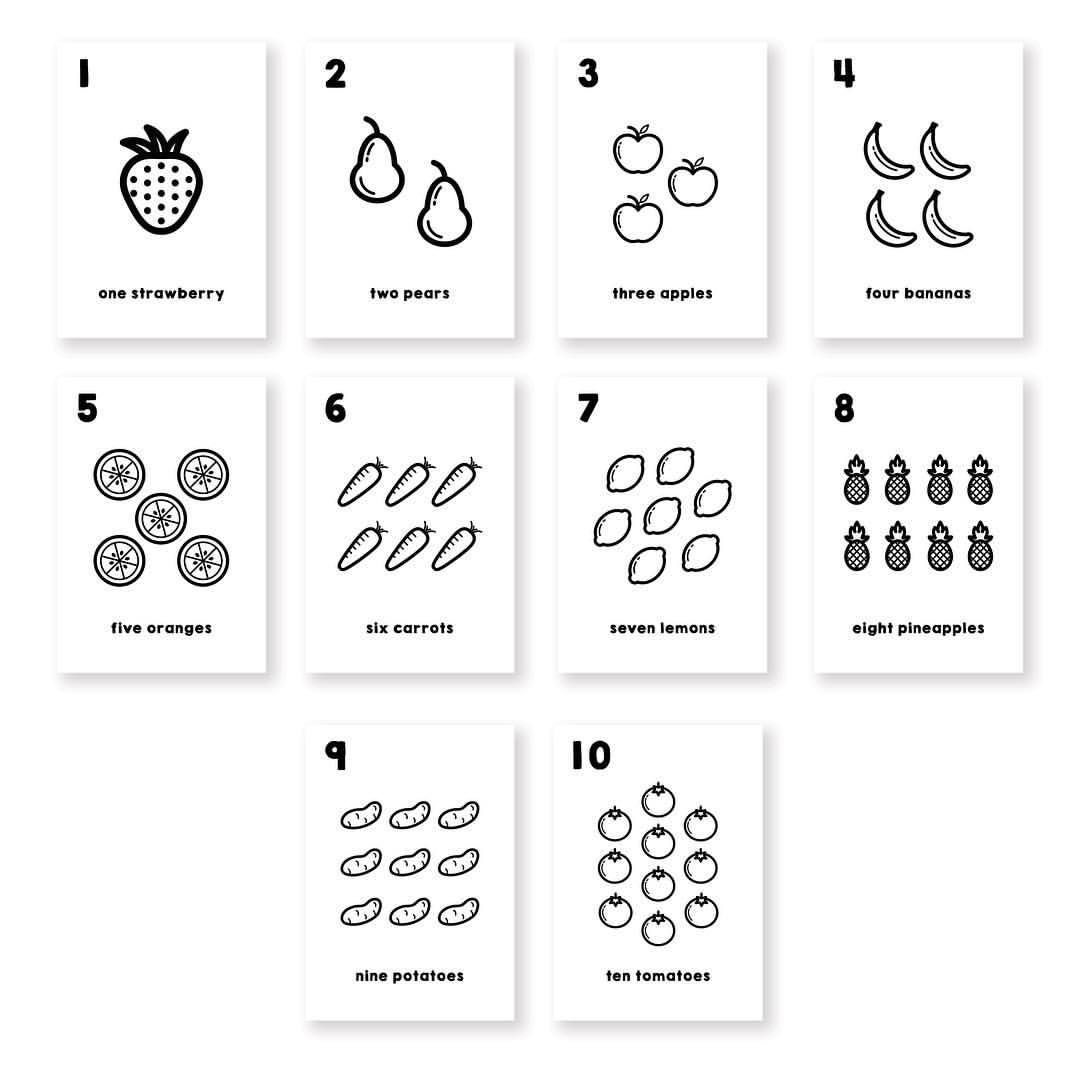 Counting Flashcards Online Now In Fruits And Vegetables