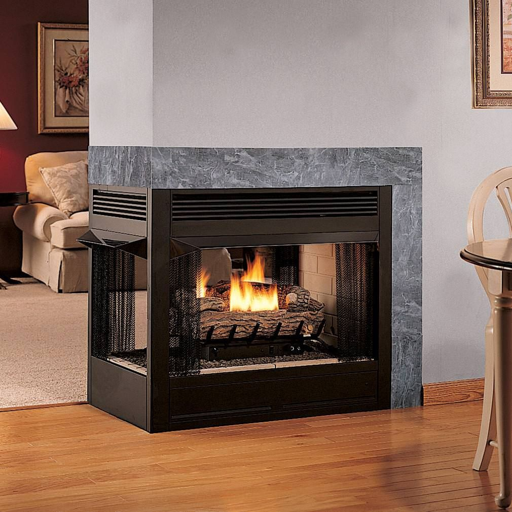 Multifunction Double Sided Ventless Gas Fireplace Smell Insert Is