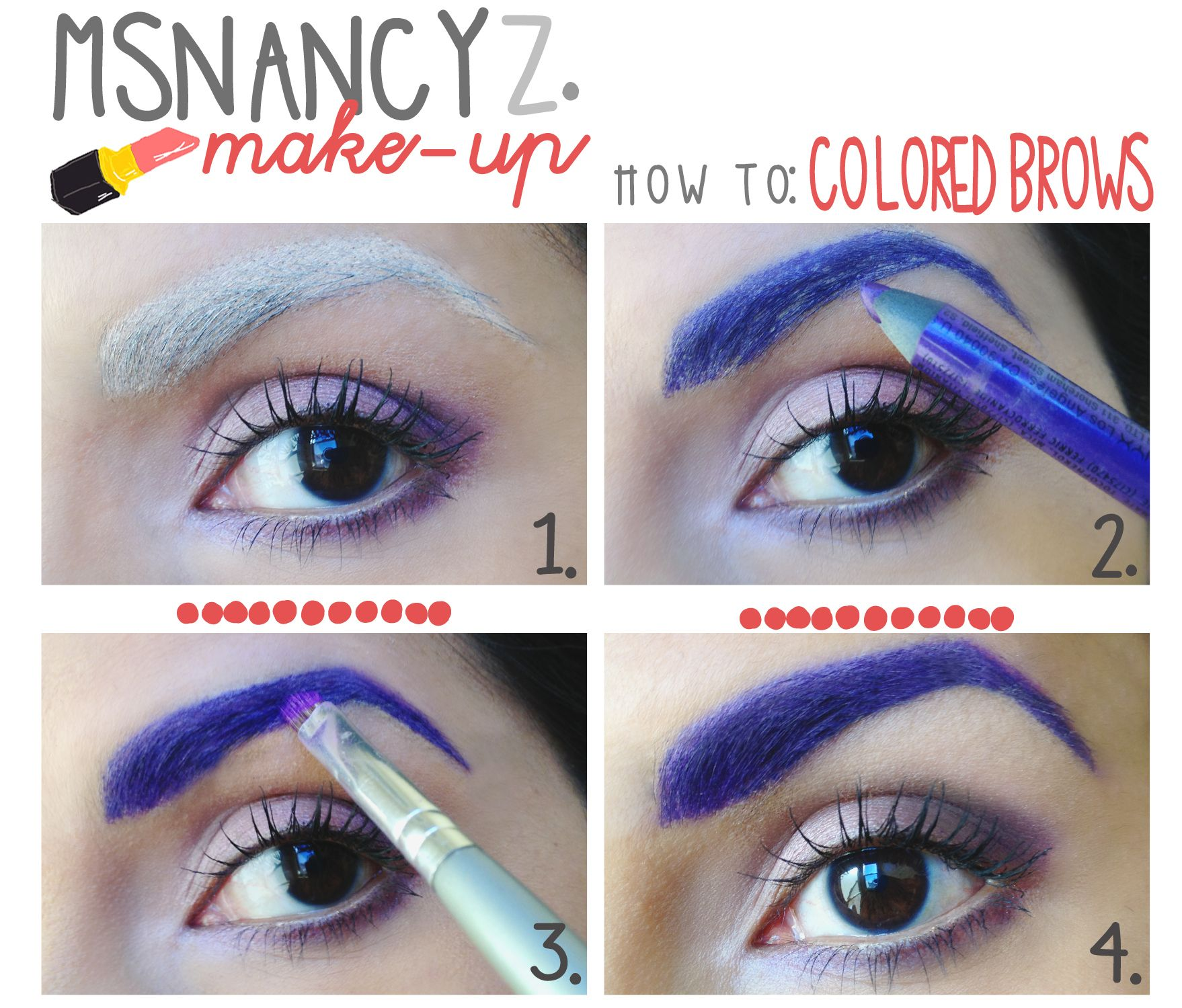 Colored brows halloween doodle thoughts pinterest brows makeup ideas colored brows eyebrow tutorialanime makeup baditri Choice Image