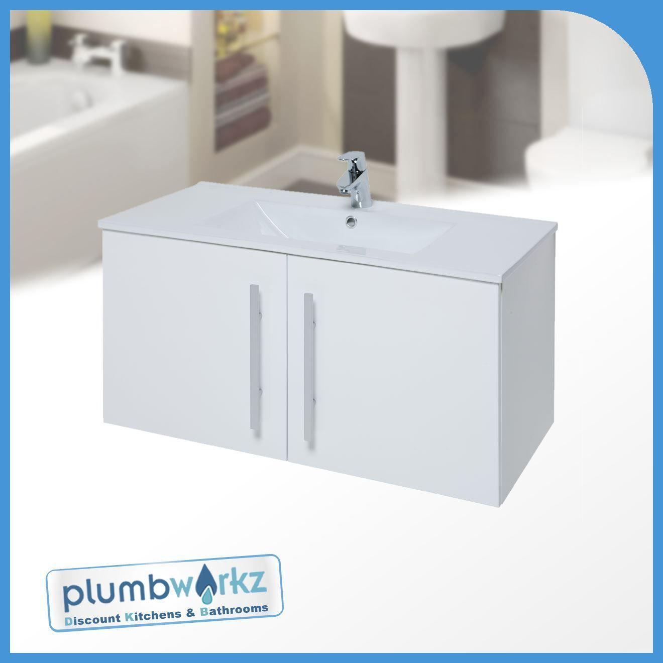 Bathroom vanity unit 900mm - 900mm Wall Mounted Bathroom Vanity Unit Cabinet Wash Basin Sink Wall Hung Ebay