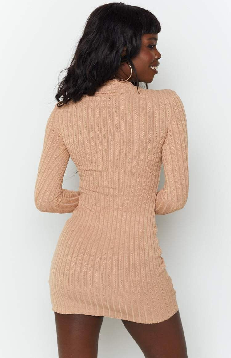 Kaira Dress Tan 8 1000 Bodycon Dress Casual Basic Dress Sparkly Party Dress [ 1164 x 750 Pixel ]