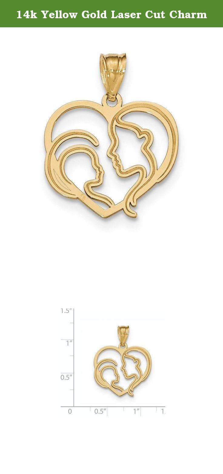 K yellow gold laser cut charm k yellow gold laser cut charm