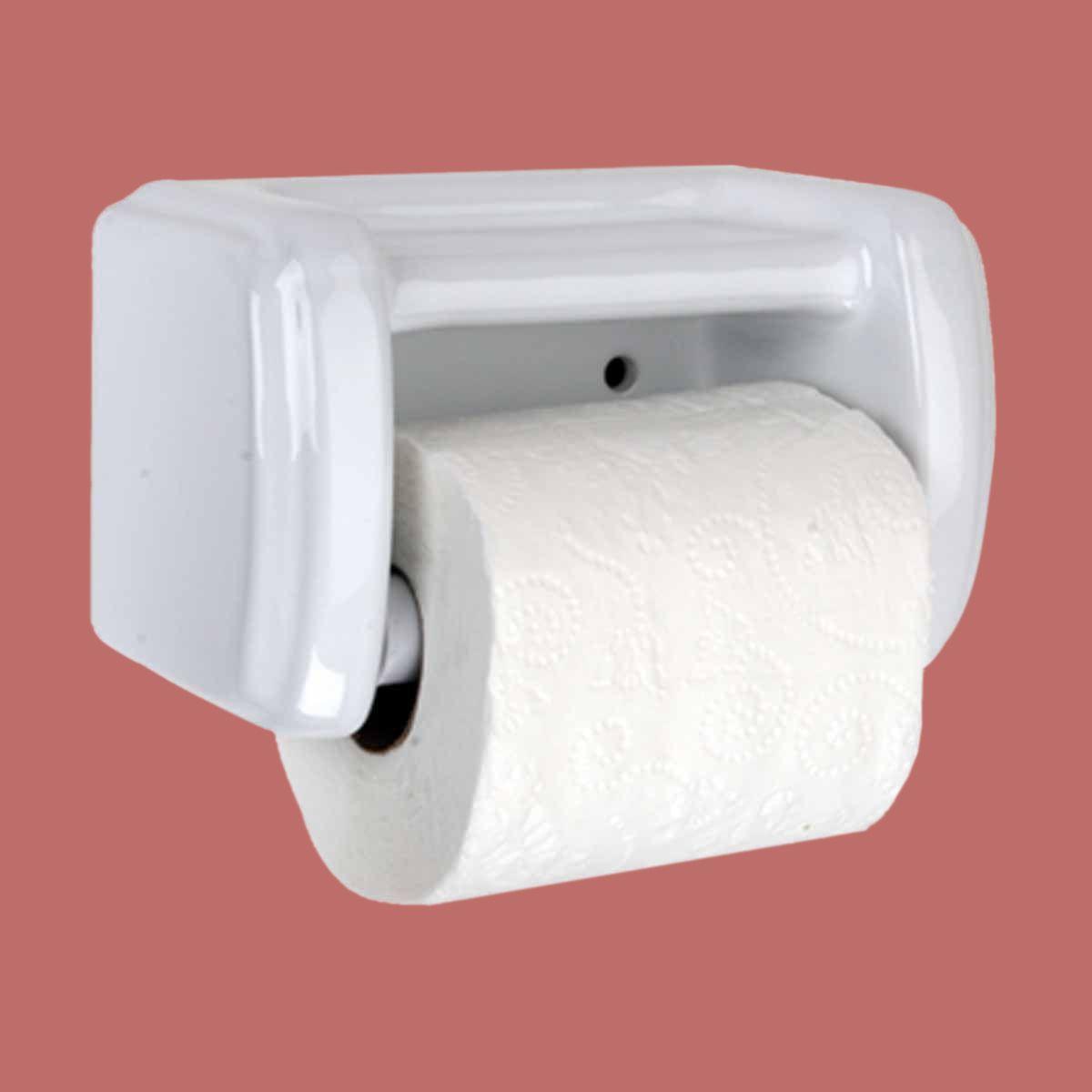 Toilet Paper Holder White Ceramic Toilet Tissue Holder Toilet