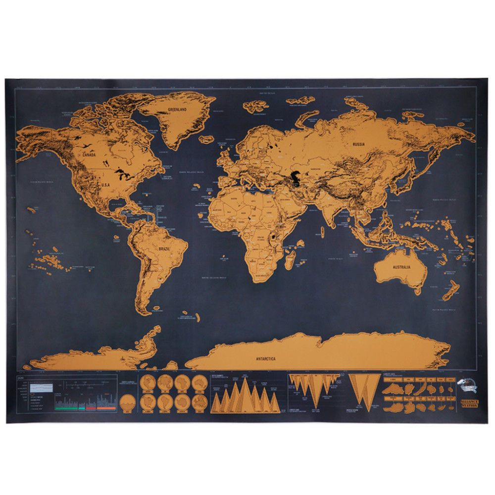 Scratch world map deluxe 325 x 234 travel poster gift men office scratch world map deluxe 325 x 234 travel poster gift men office home boss fun gumiabroncs Gallery