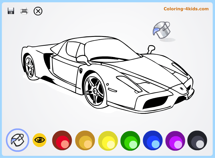 Cool cars coloring pages online for kids Ferrari Coloring