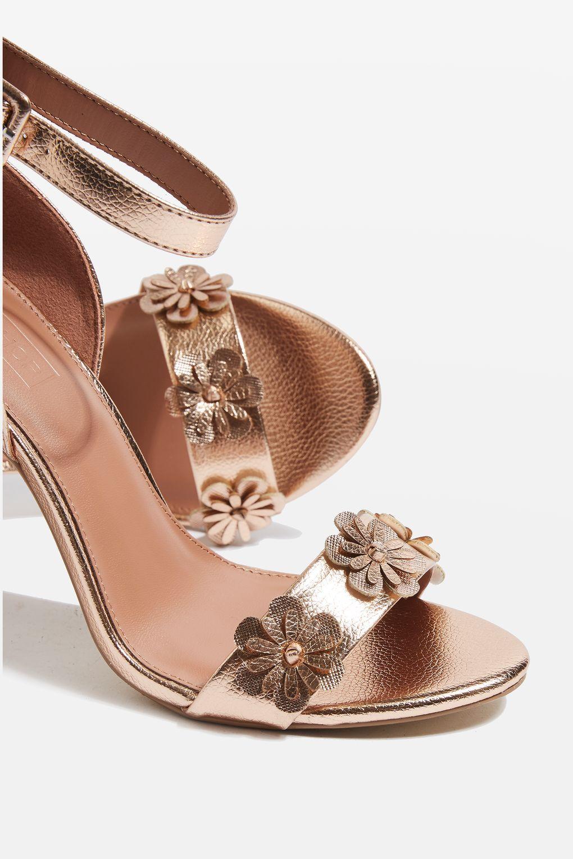 3c943fab8586a Mylene flower skinny sandals heels shoes pinterest jpg 1020x1530 Rose gold  heels with flowers