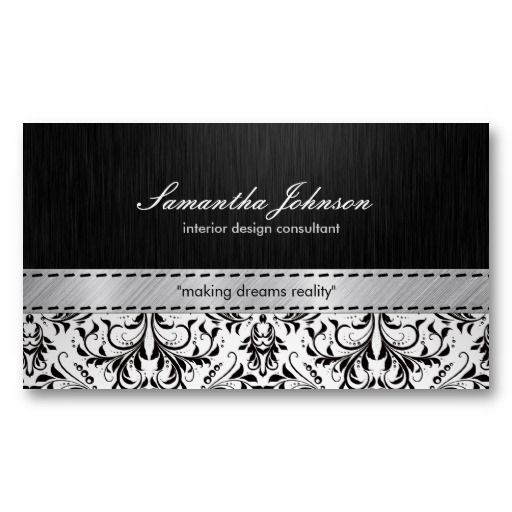 Professional Elegant Black And White Damask Business Card Zazzle Com In 2021 White Damask Wedding Planner Business Card Business Cards