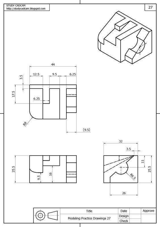 Tavola N 027 Disegno Tecnico Disegni Geometria