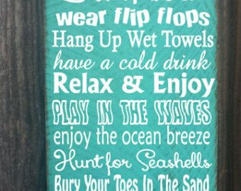 Beach Sign Decor Pleasing Beach Decor Beach Sign Beach House Decorfarmhousechicsigns Design Ideas