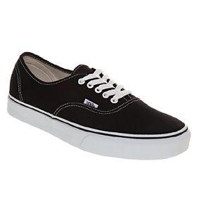 Vans AUTHENTIC BLACK WHITE Shoes - Vans