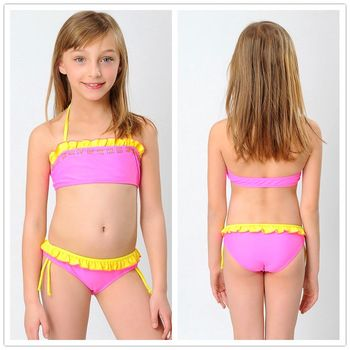Princesa de las muchachas del traje de ba o bikini traje for Ropa de bano infantil