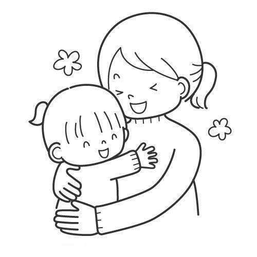 Dibujo Abrazo Facil Buscar Con Google Mom Drawing Valentine Art Projects Coloring Pages
