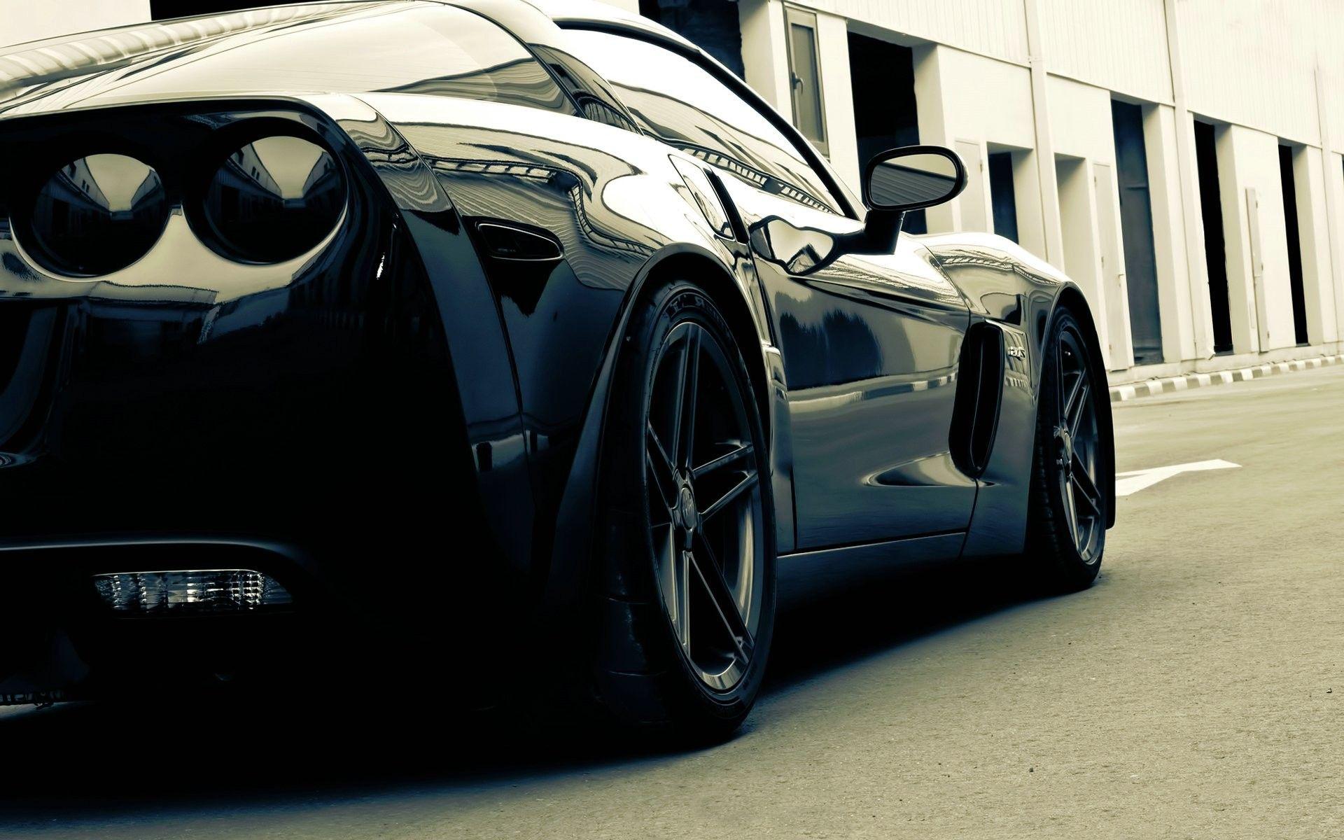 Cars Photography Vehicles Corvette Black Cars 1920x1200 Wallpaper Corvette Car Car Classic Cars