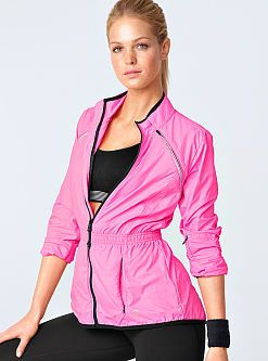 Form meets function in the VS Runway Convertible Jacket from Victoria's  Secret. Removable sleeves turn