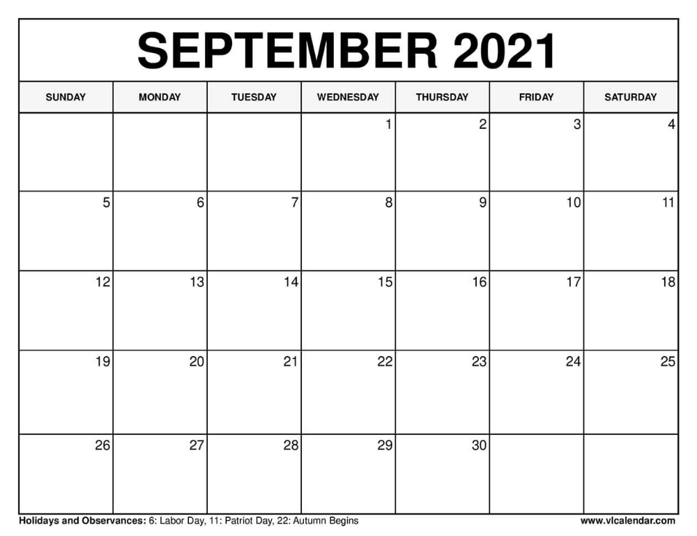 September 2021 Calendar In 2020 Calendar Template February Calendar 2020 Calendar Template