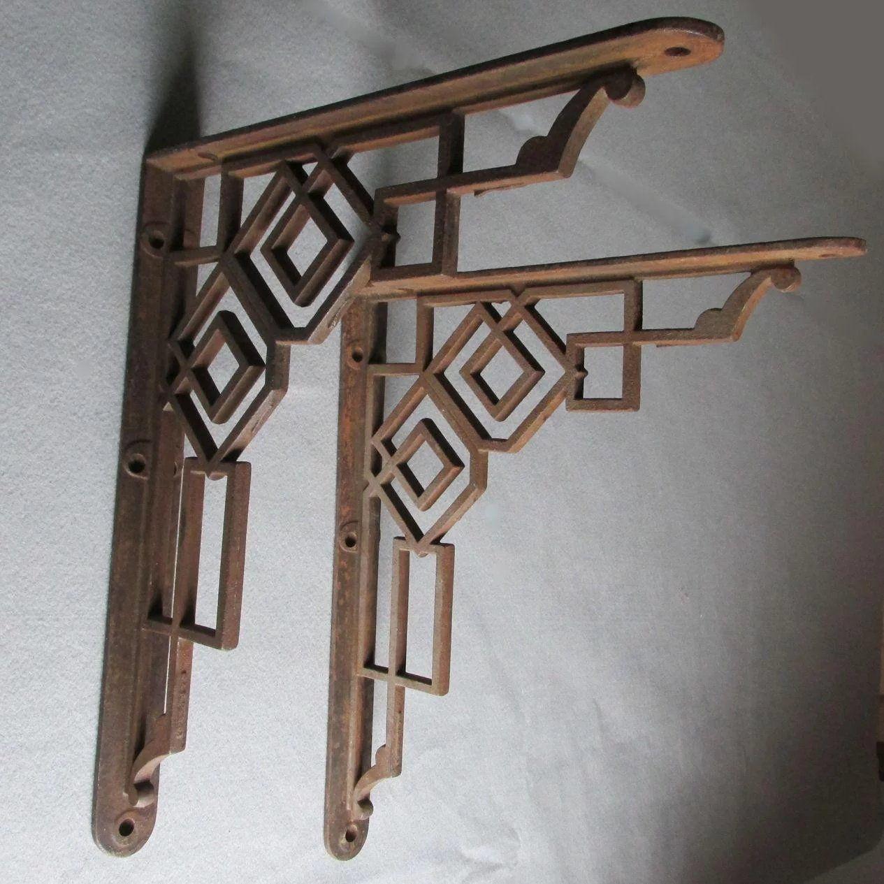 Large Antique Architectural Shelf Brackets Cast Iron Home Decor Architectural Antiques Antiques Architecture