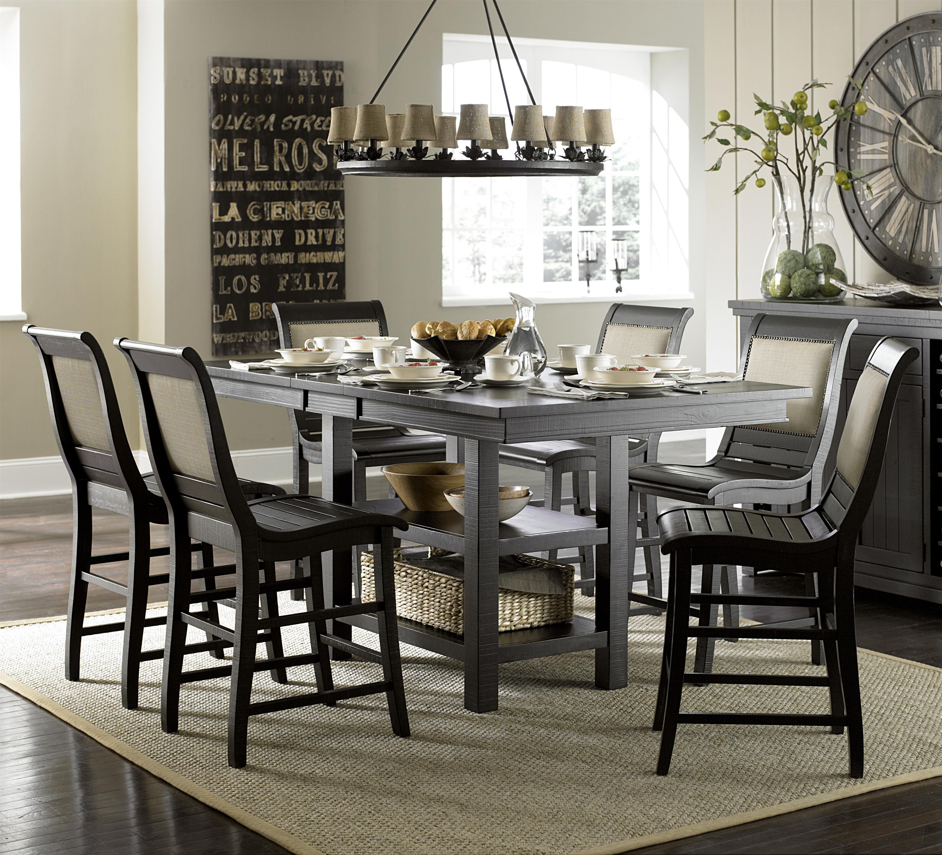 Willow Dining 7 Piece Rectangular Counter Height Table Set With