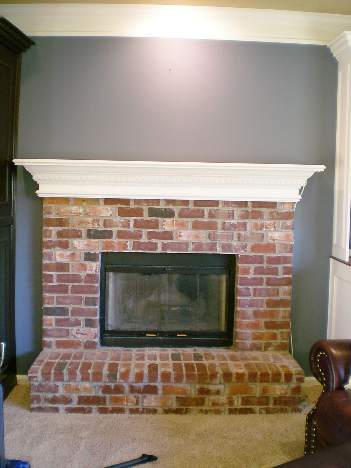 cleaning fireplace glass front insert salaambank brick cleaner